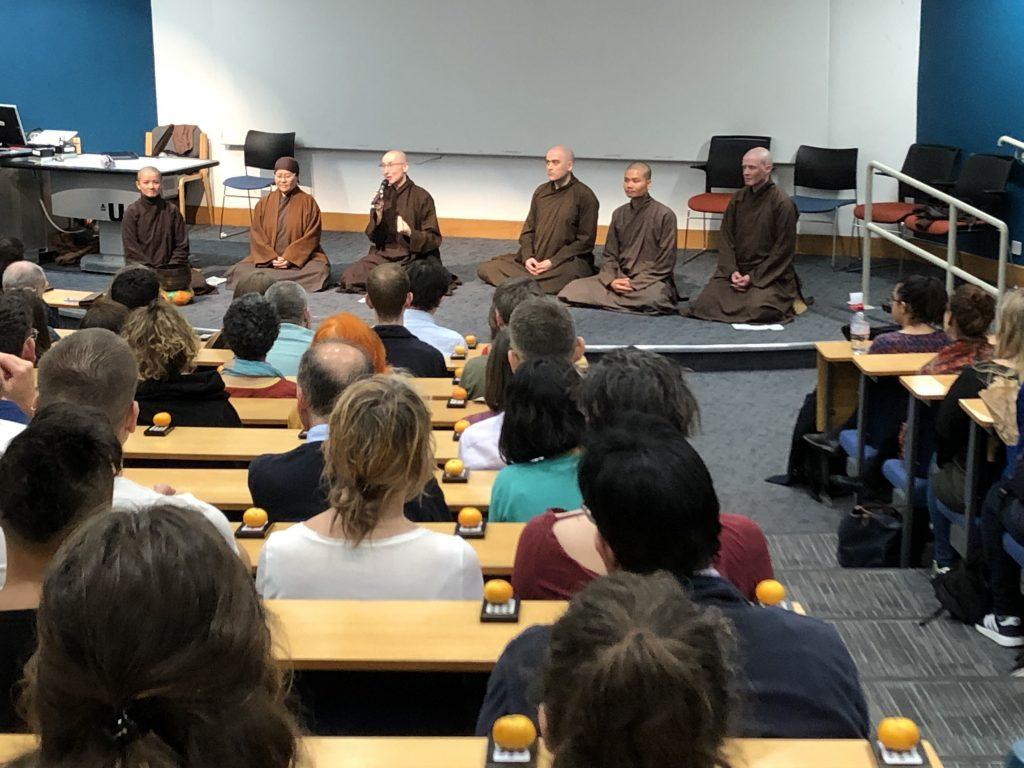 Monastics and audience